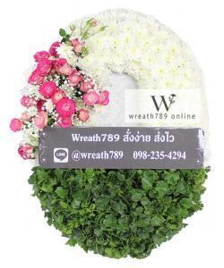 พวงหรีดดอกไม้สด แบบที่9062