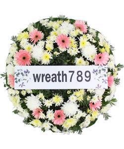 พวงหรีดดอกไม้สด แบบที่153