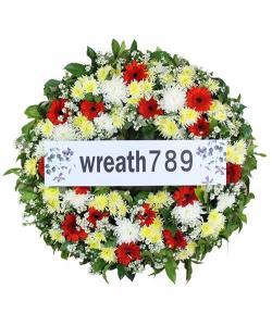 พวงหรีดดอกไม้สด แบบที่1541