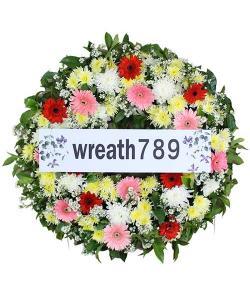 พวงหรีดดอกไม้สด แบบที่1542