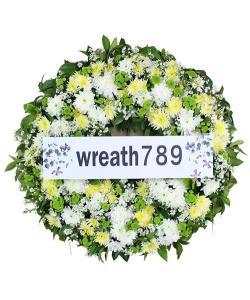 พวงหรีดดอกไม้สด แบบที่1543