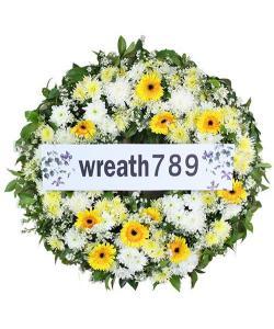 พวงหรีดดอกไม้สด แบบที่1544