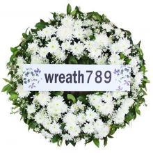 พวงหรีดดอกไม้สด แบบที่1545