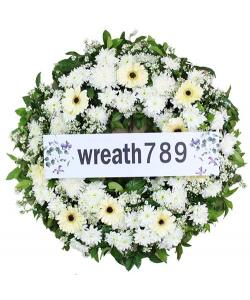 พวงหรีดดอกไม้สด แบบที่1546