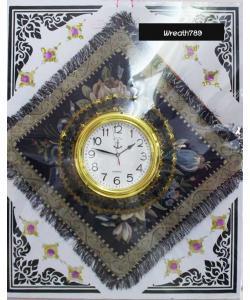 พวงหรีดผ้าอาสนะนาฬิกา 51d
