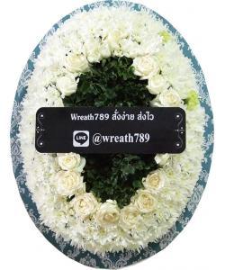 พวงหรีดดอกไม้สด แบบที่3