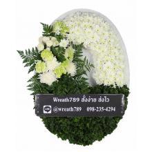 พวงหรีดดอกไม้สด แบบที่902