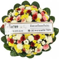 พวงหรีดดอกไม้สด แบบที่16