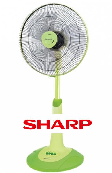 พัดลม Sharp 16 นิ้ว สีเขียว