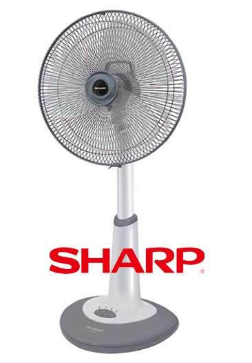 พัดลม Sharp 18 นิ้ว สีเทา
